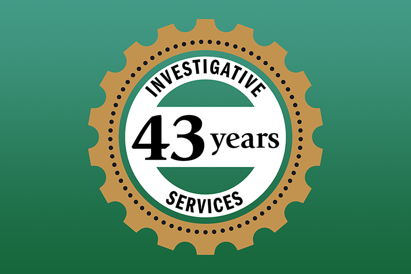 Corporate Investigation for 43 Years