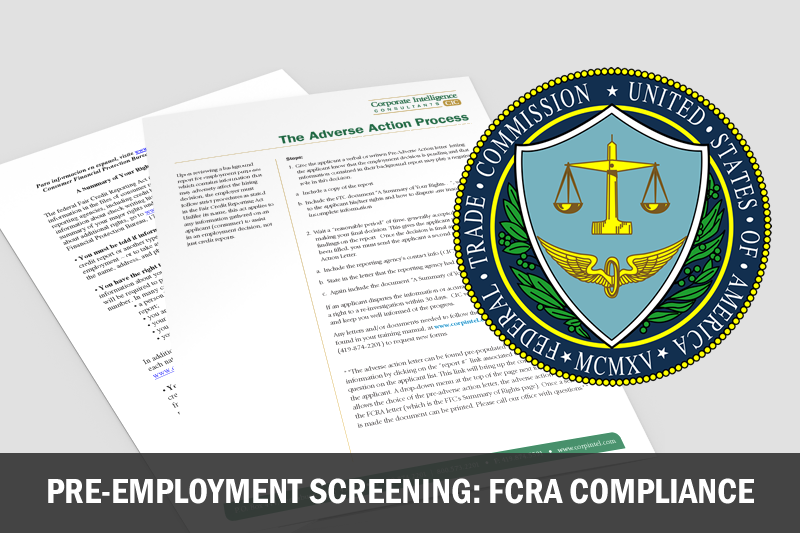pre-employment screening fcra adverse action process
