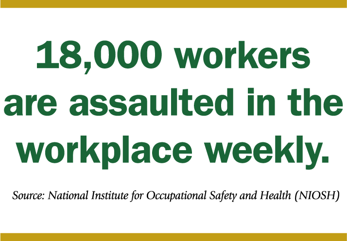 18,000 people are assaulted at work